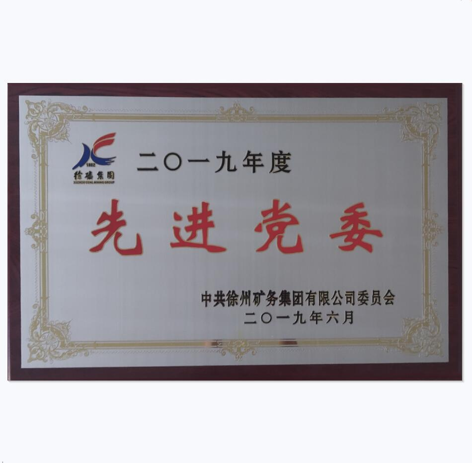 荣获2019年度先进党委